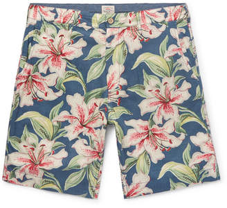 Faherty Slim-Fit Floral-Print Linen-Blend Shorts