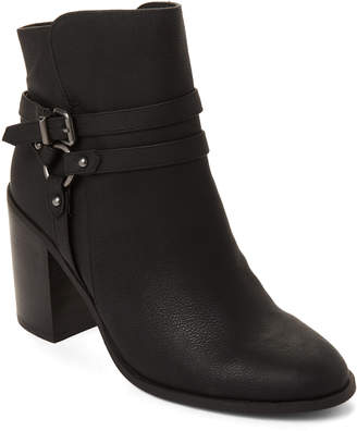 Madden-Girl Black Evilin Harness Ankle Booties
