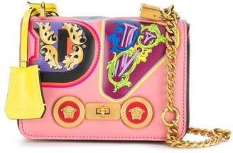 Versace alphabet print mini bag
