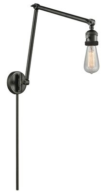 17 Stories Allaryce Bare Bulb Double 1-Light Swing Arm 17 Stories