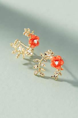Anthropologie Flora Hooped Post Earrings