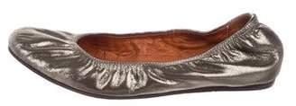 Lanvin Leather Metallic Flats