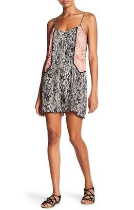 THML Contrast Patterned Woven Romper