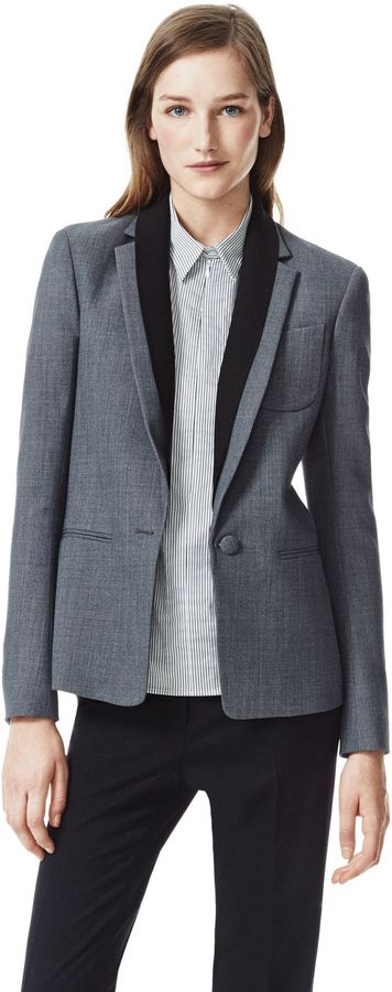 Theory Donelly Blazer in Wallner Stretch Cotton