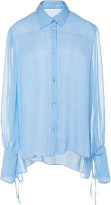 Carolina Herrera Long Sleeve Button Blouse