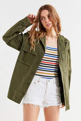 Urban Renewal Vintage Herringbone European Military Jacket