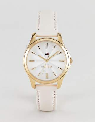 Tommy Hilfiger Lori leather watch in pink 35mm