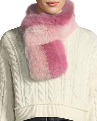 Charlotte Simone Cuddle Cuff Two-Tone Fur Scarf