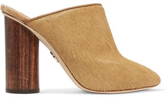 Brother Vellies - Bianca Shearling-lined Calf Hair Mules - Tan