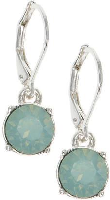 Gloria Vanderbilt Green Circle Drop Earrings