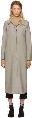 Maison Margiela Multicolor Check Long Bonded Jersey Coat