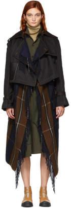 Loewe Black Blanket Trench Coat