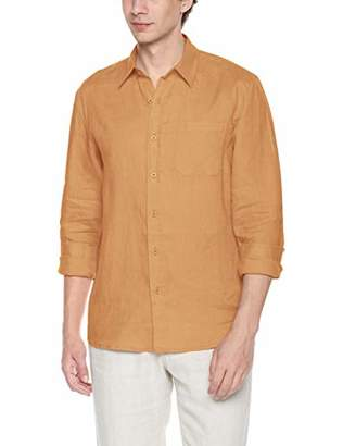 Isle Bay Linens Men's Slim-Fit 100% Linen Long-Sleeve Woven Casual Shirt