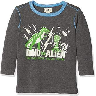 Hatley Boy's Long Sleeve Glow in The Dark Graphic Tee Top