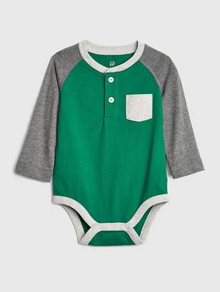 Gap Henley Long Sleeve Bodysuit