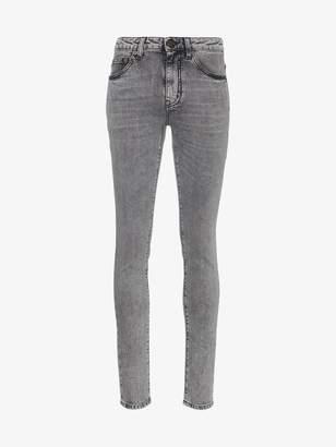 Saint Laurent Skinny Snow Wash Jeans