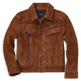 Ralph Lauren Boys' Suede Trucker Jacket - Little Kid
