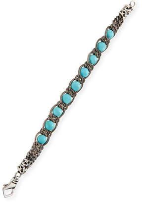 Emanuele Bicocchi Men's Turquoise Chain Bracelet