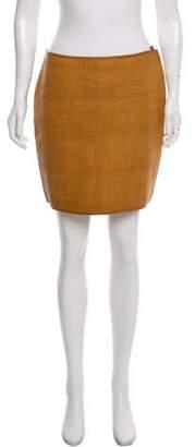 Ralph Lauren Black Label Leather Mini Skirt