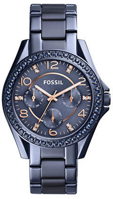 Fossil Riley Multifunction Stainless Steel Bracelet Watch