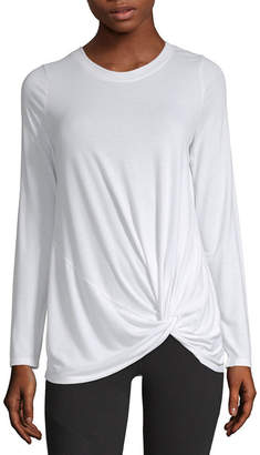 Xersion Long Sleeve Crew Neck T-Shirt-Womens
