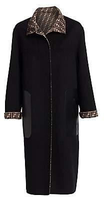 Fendi Women's Reversible Logo Duster Coat
