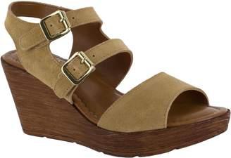 Bella Vita Leather Wedge Sandals - Ani-Italy