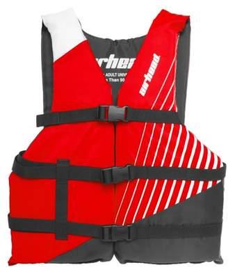 Kwik Tek Airhead Ramp Adult Universal Size Open Sided Boating Tube Red Life Vest Jacket