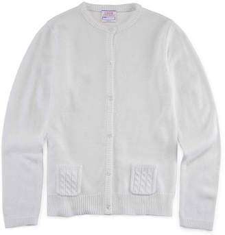 Izod EXCLUSIVE Cable Pocket Cardigan - Girls 7-18 and Plus