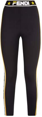 Fendi Logo Stripe Leggings