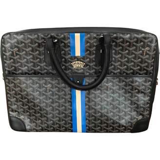 Goyard Ambassade Black Leather Bag