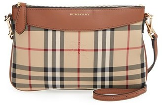 Burberry 'Peyton - Horseferry Check' Crossbody Bag - Brown $625 thestylecure.com