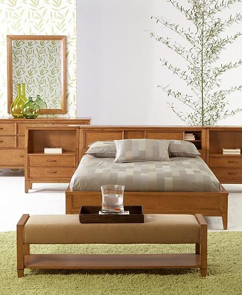 Aventura 5-Piece Contemporary Bedroom Set: King Bed, Dresser, Mirror, and 2-Nightstands