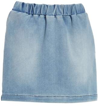 Frame Pull-On Denim Miniskirt