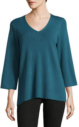 Eileen Fisher V-Neck Organic Cotton Top
