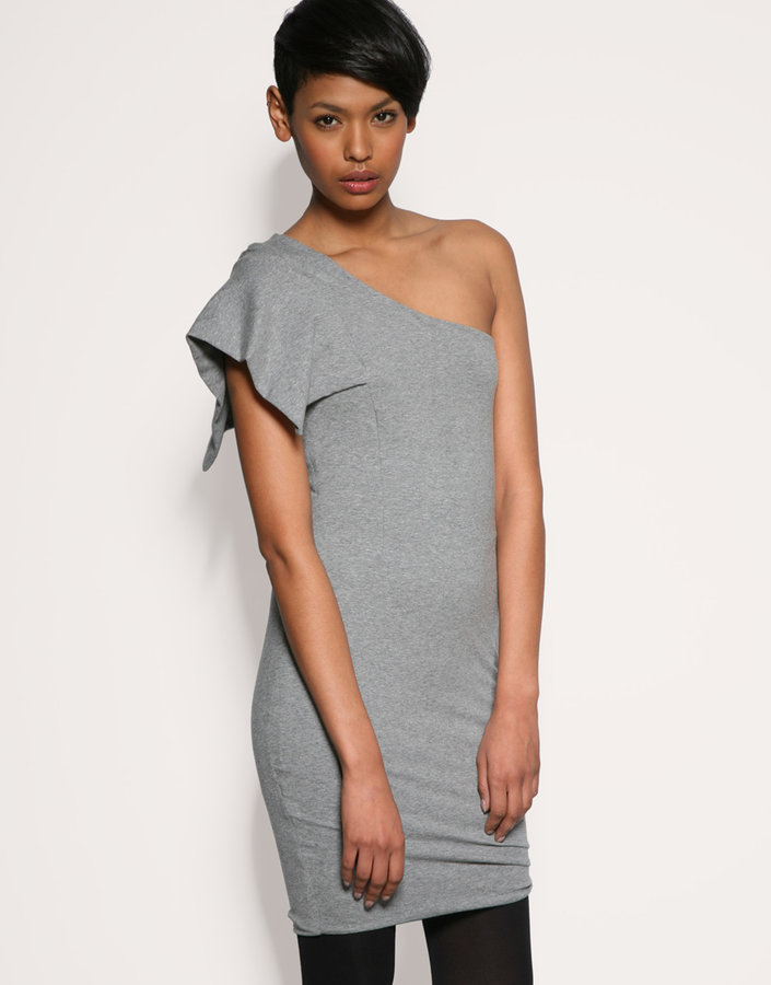 Meem Exaggerated One Shoulder Dress