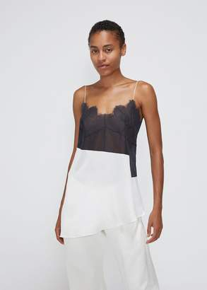 Maison Margiela Sleeveless Lace Combination Top