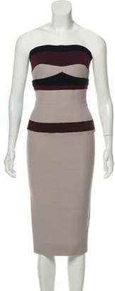Victoria Beckham Fitted Wool Dress w/ Tags purple Fitted Wool Dress w/ Tags