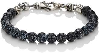 Emanuele Bicocchi MEN'S CRACKED ONYX BEADED BRACELET