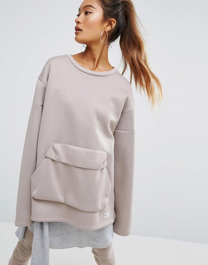 adidasAdidas adidas Originals Oversized Sweatshirt With Front Pocket