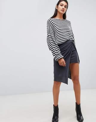 AllSaints (オールセインツ) - AllSaints jersey wrap midi skirt