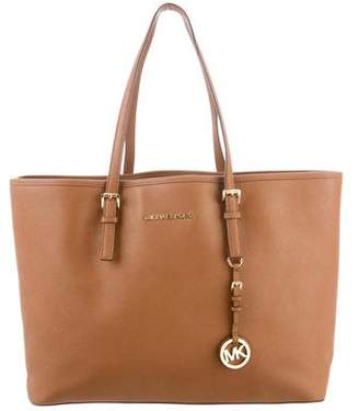 2cf2da007e Pre-Owned at TheRealReal · MICHAEL Michael Kors Jet Set Leather Tote