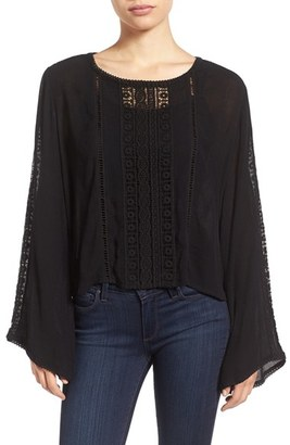 Women's Kut From The Kloth 'Samantha' Bell Sleeve Embroidered Gauze Top $78 thestylecure.com