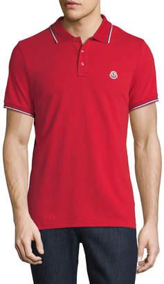 Moncler Classic Pique Patch Polo Shirt