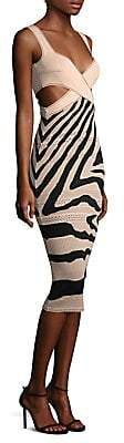 Roberto Cavalli Women's Cutout Zebra Sheath Dress