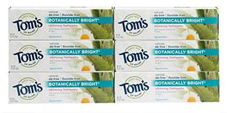 Tom's of Maine Natural Fluoride Free Botanically Bright Toothpaste