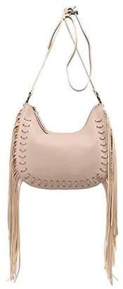 shomico Women's MT1092-1 Design Tassel Faux Leather Hobo Cross Body Shoulder Sling Bag