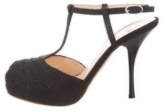 Giuseppe Zanotti Embossed Ankle Strap Sandals
