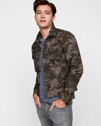 Express Camo Cotton Trucker Jacket