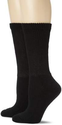 Dr. Scholl's Women's 2 Pack Diabetes Circulatory Comfort Crew Socks